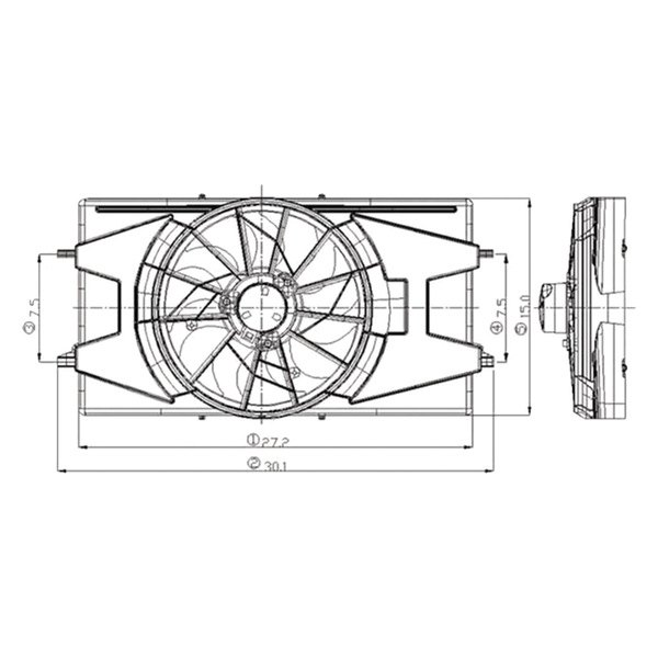 620900 Tyc Dual Radiator And Condenser Fan Ebay