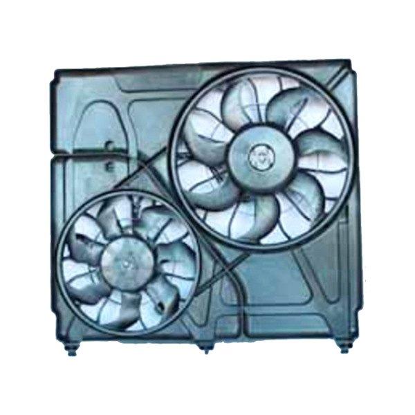 621040 Tyc Dual Radiator And Condenser Fan Ebay