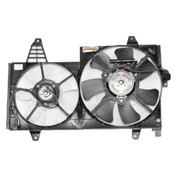 Tyc 621250 Dual Radiator And Condenser Fan Ebay
