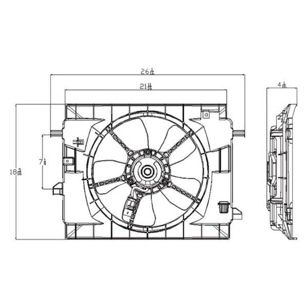 621450 Tyc Dual Radiator And Condenser Fan Ebay