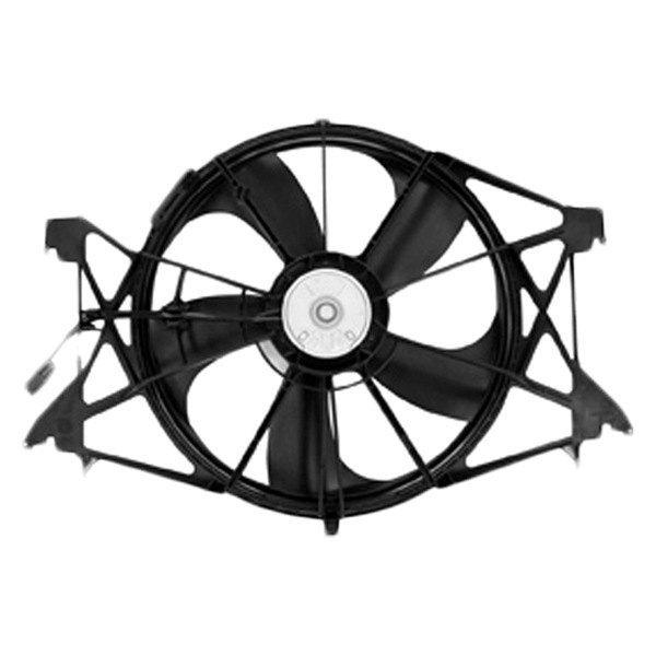 For Ram 1500 2011 2018 Tyc 622360 Dual Radiator Condenser Fan