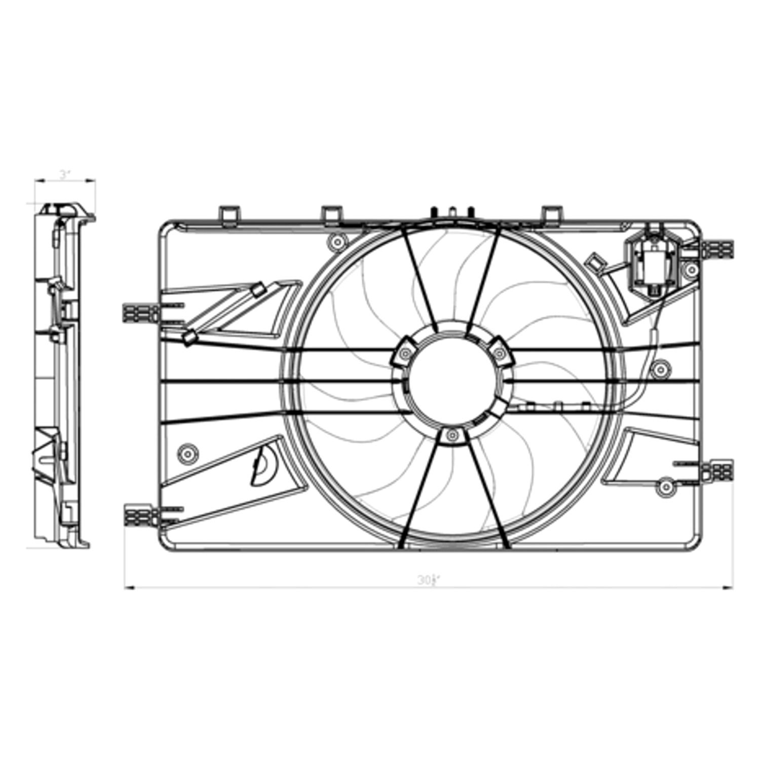 tyc® - chevy cruze 2014 dual radiator and condenser fan 2011 chevy silverado cooling fan wiring diagram #4