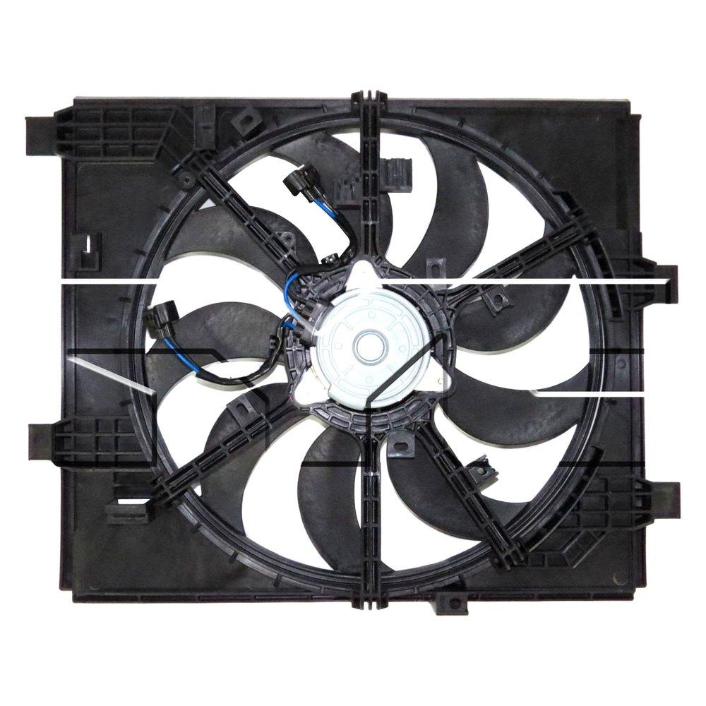 622960 Tyc Dual Radiator And Condenser Fan Ebay