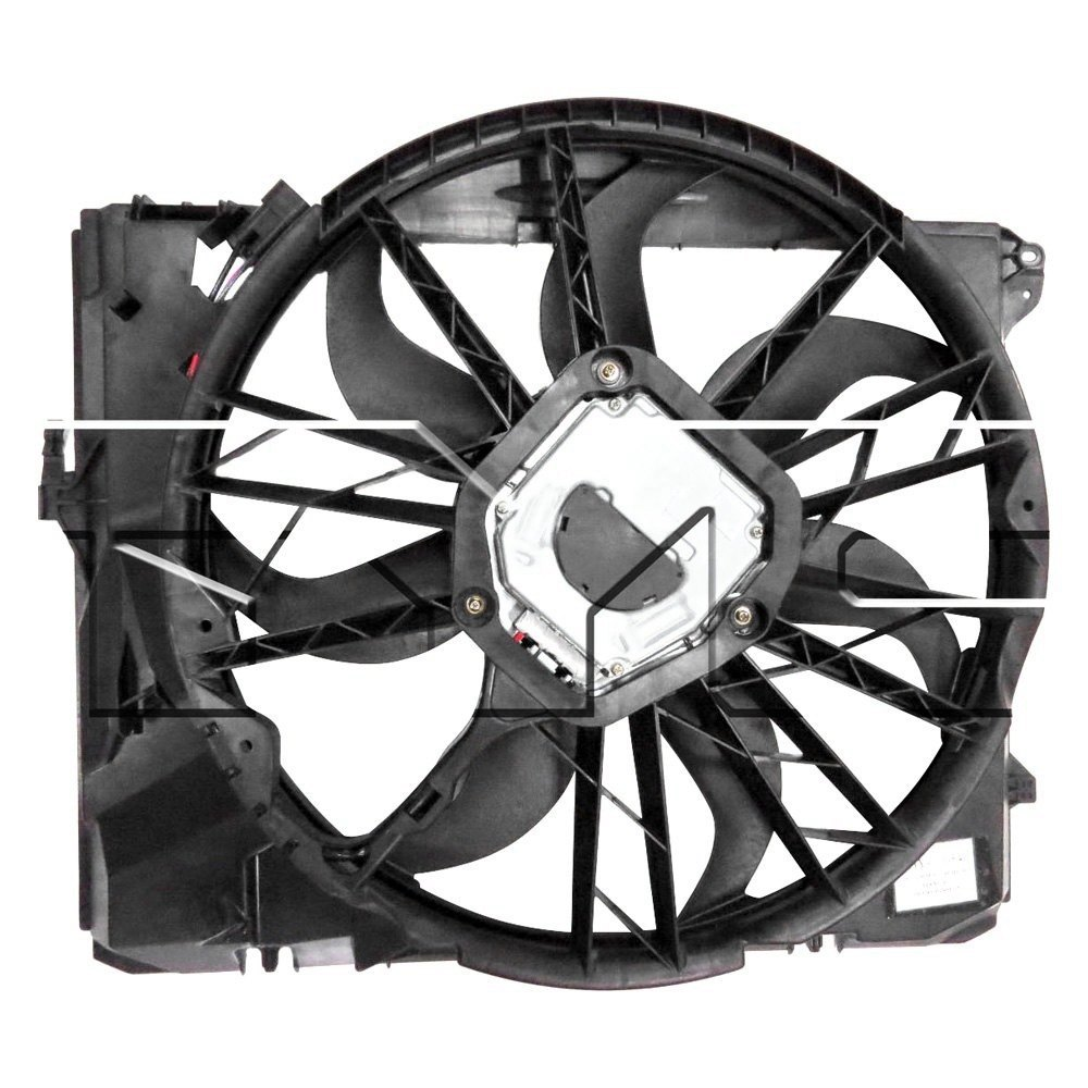 BMW 3-Series 2007 Dual Radiator And Condenser Fan