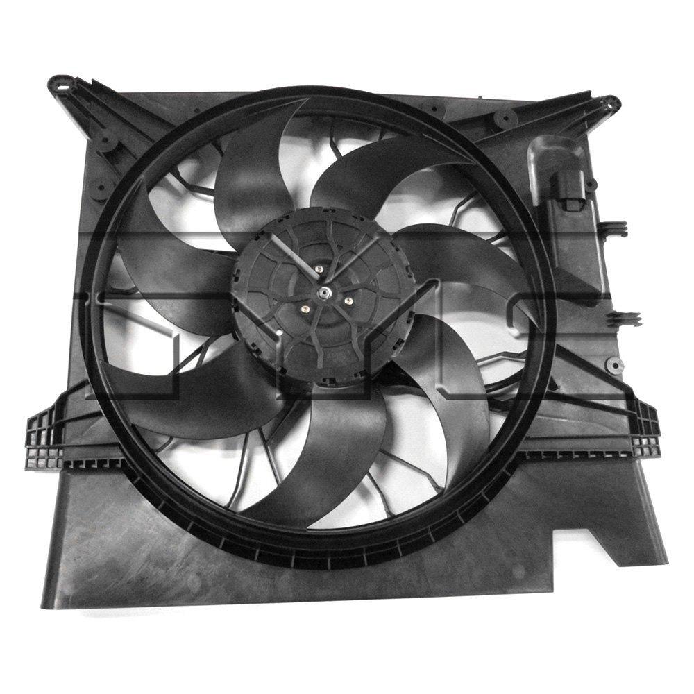 623120 Tyc Dual Radiator And Condenser Fan Ebay