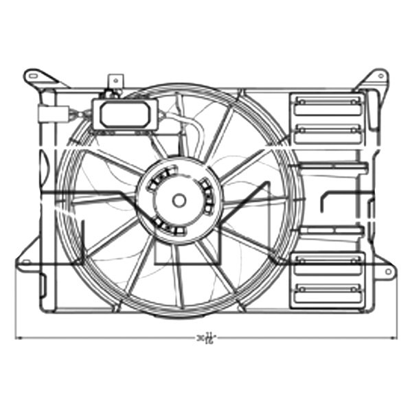 For Ford Edge 2012 2014 Tyc 623140 Dual Radiator Condenser Fan