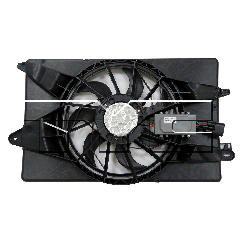 623340 Tyc Dual Radiator And Condenser Fan Ebay