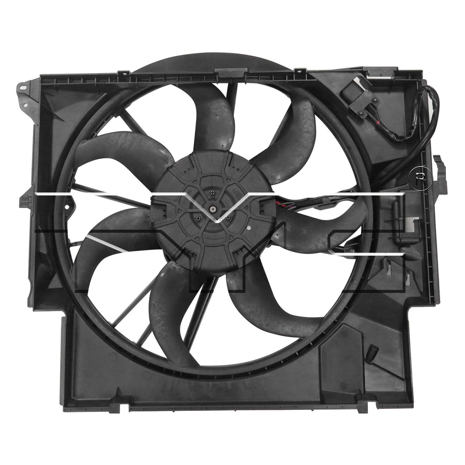 623430 tyc dual radiator and condenser fan ebay for Condenser fan motor replacement cost