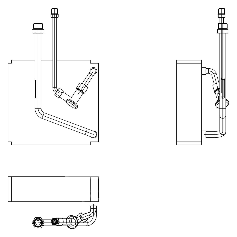 For Mazda Protege 2001-2003 TYC A/C Evaporator Core