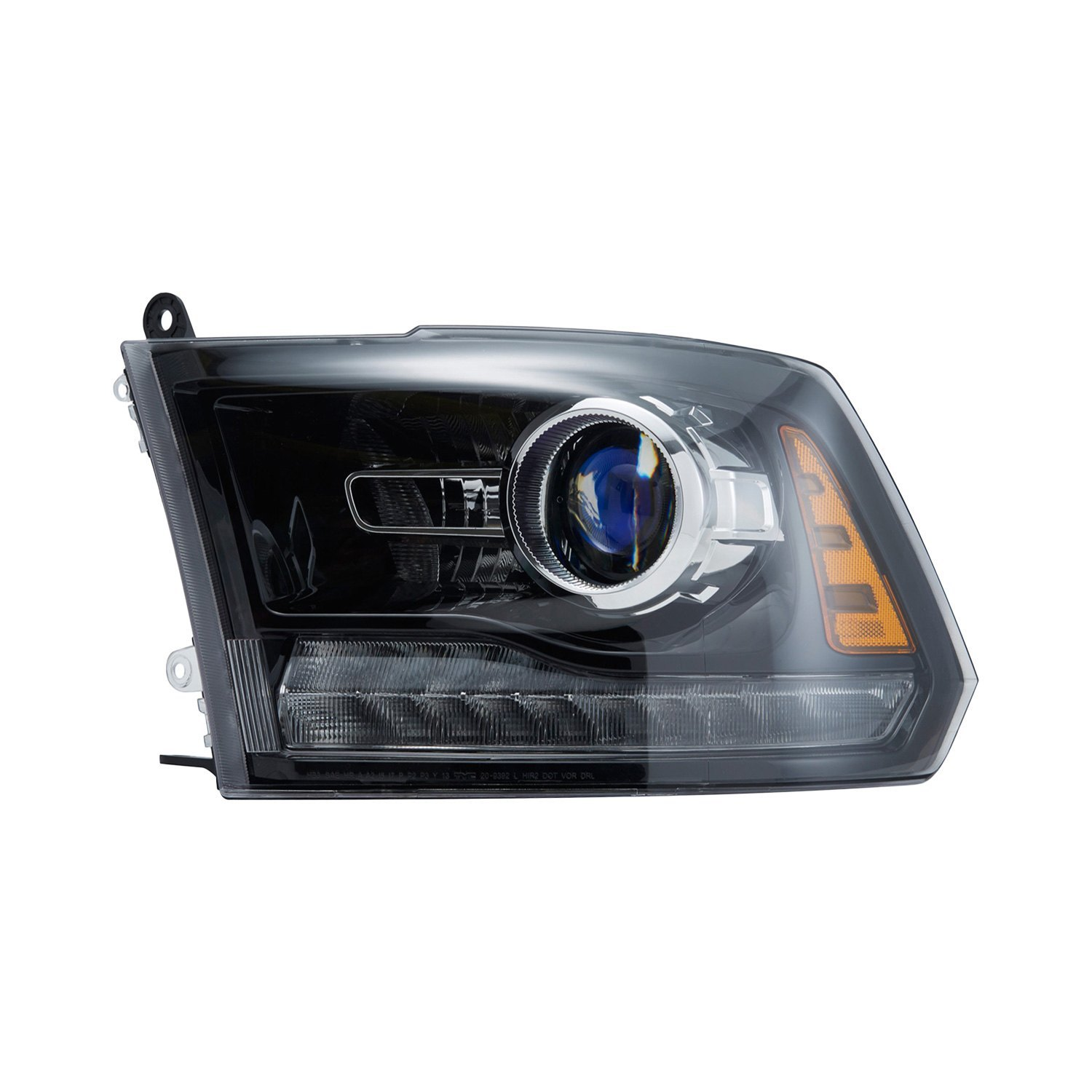 Tyc dodge ram with factory halogen headlights 2013 for Miroir 50in projector review