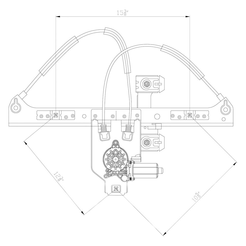 Drivers Side Power Windowwindow Motorregulator
