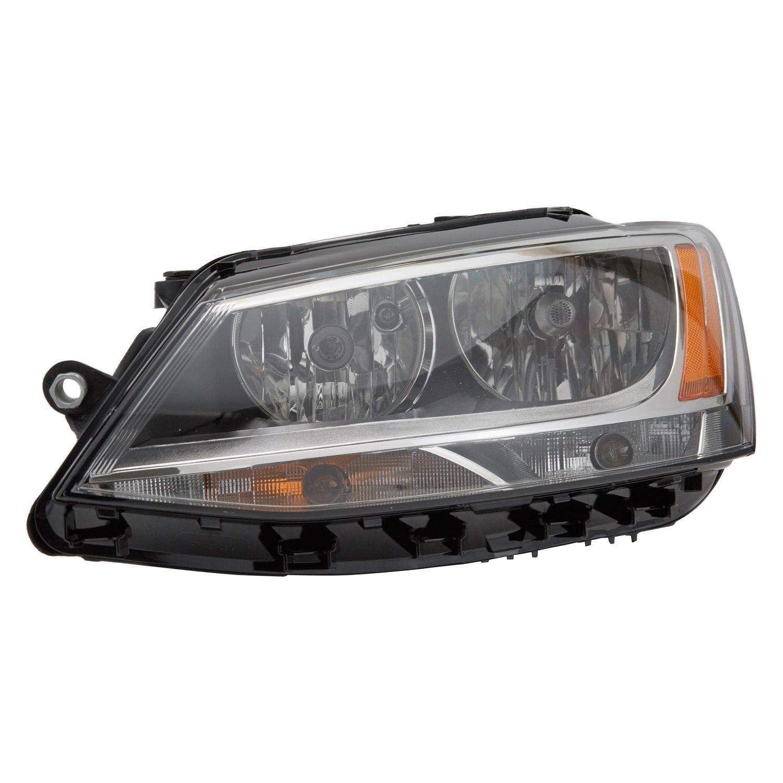 tyc volkswagen jetta  factory halogen headlights sedan  replacement headlight