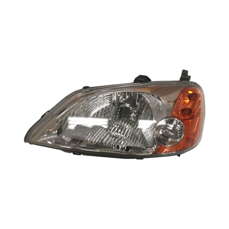 Tyc 174 Honda Civic 2001 2003 Replacement Headlight