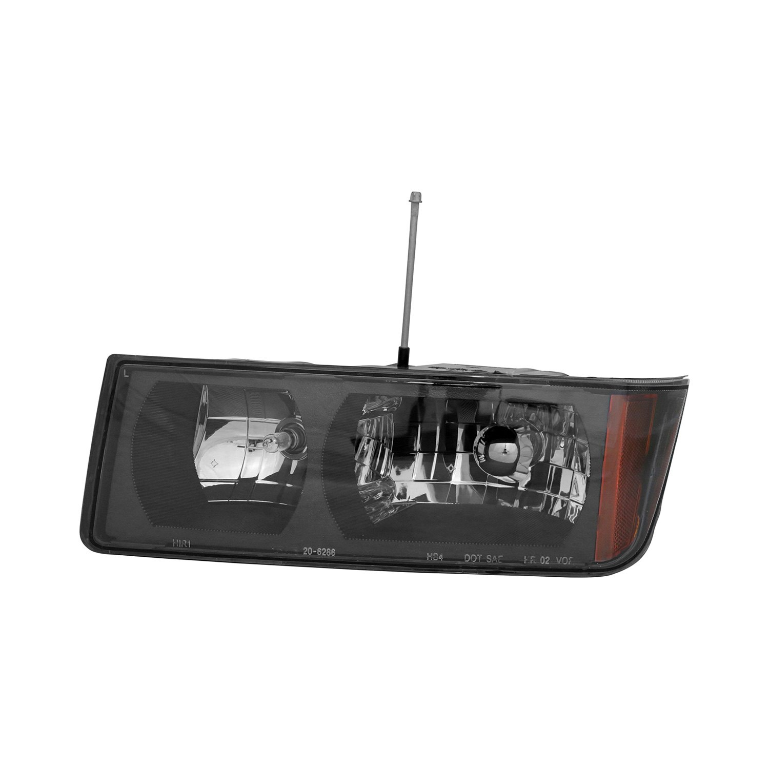 tyc chevy avalanche with body cladding 2002 2004 replacement headlight. Black Bedroom Furniture Sets. Home Design Ideas