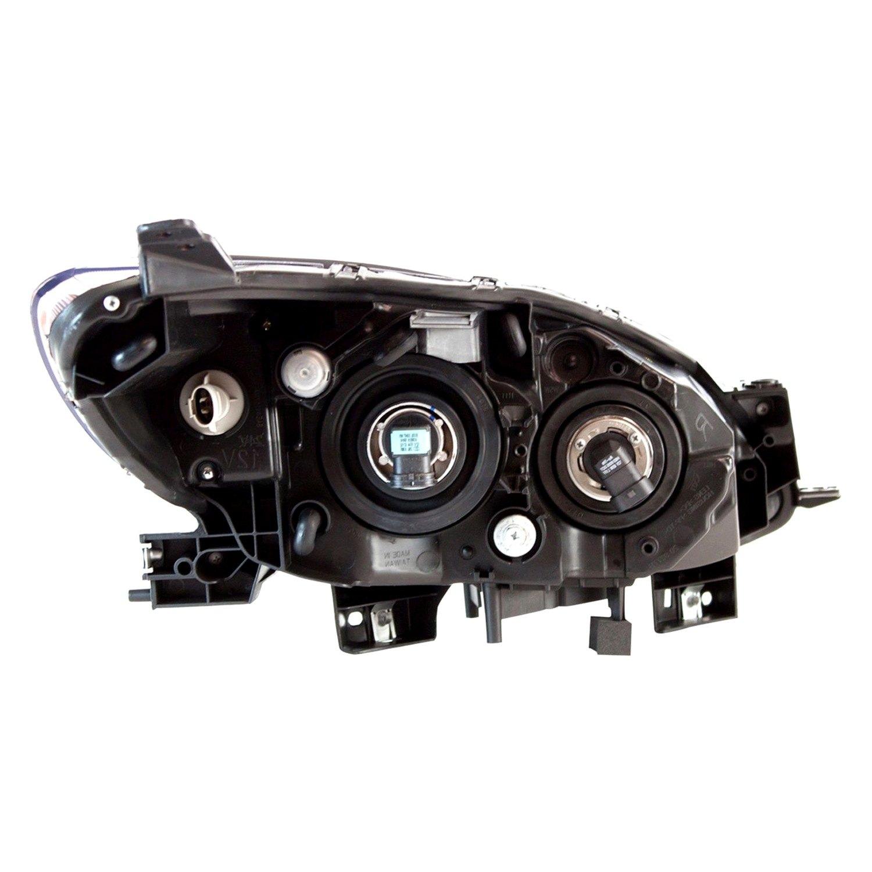 Mazda 5 Headlight Parts Diagram: Mazda 5 With Factory Halogen Headlights 2012-2015