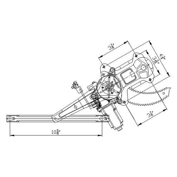 Tyc honda accord sedan 1998 2002 power window regulator for 2000 honda accord power window repair