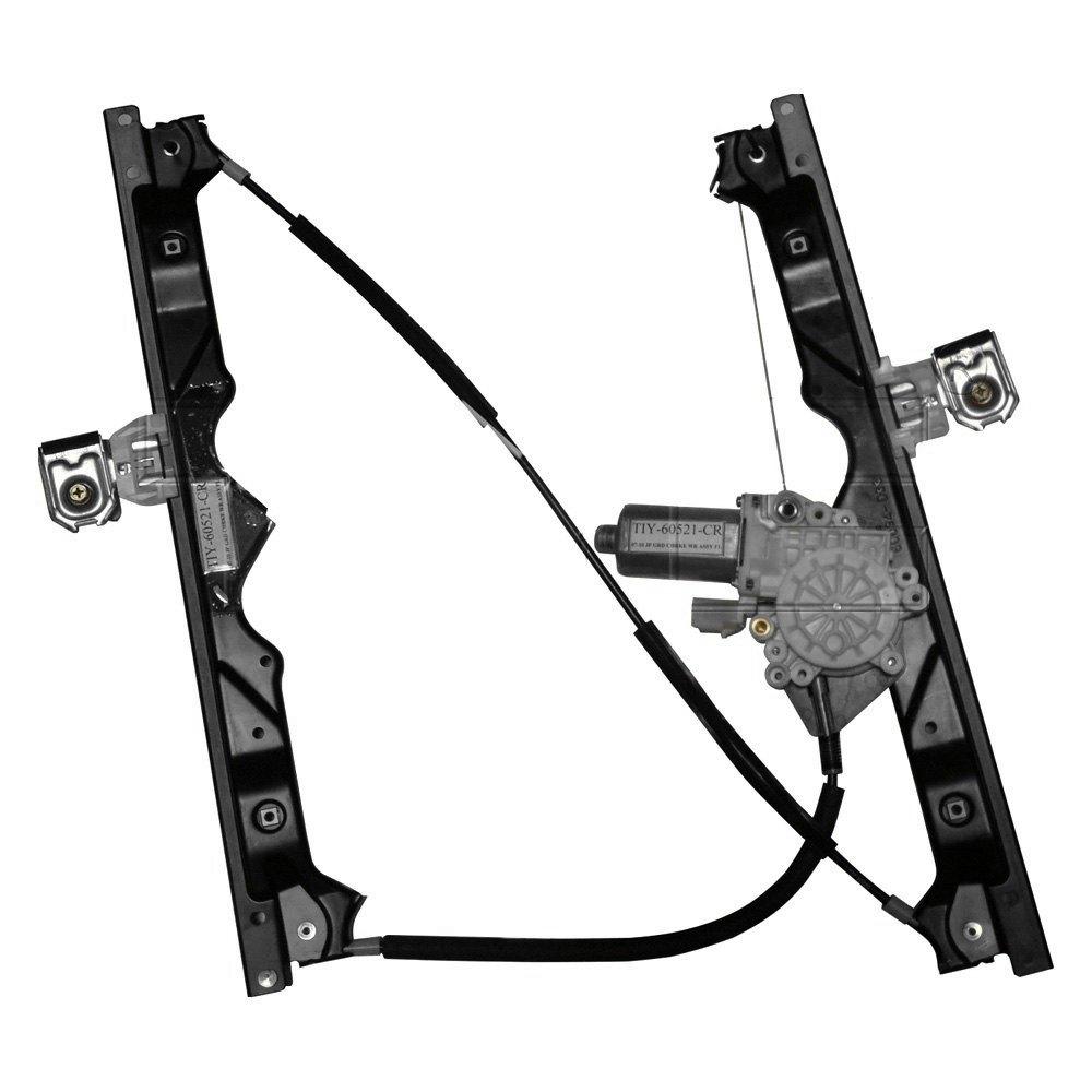 Tyc 660430 front driver side power window motor and for Power window regulator motor