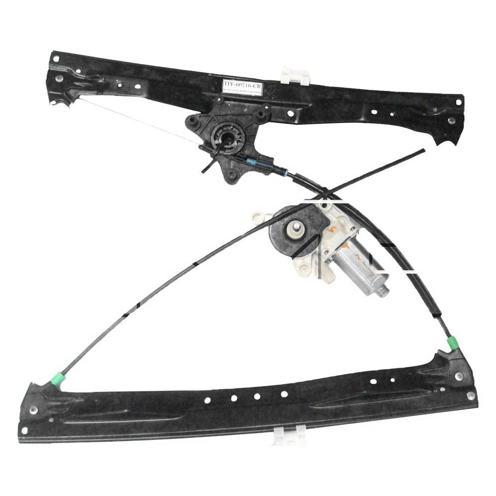 Tyc 660478 rear driver side power window regulator and for Power window regulator motor