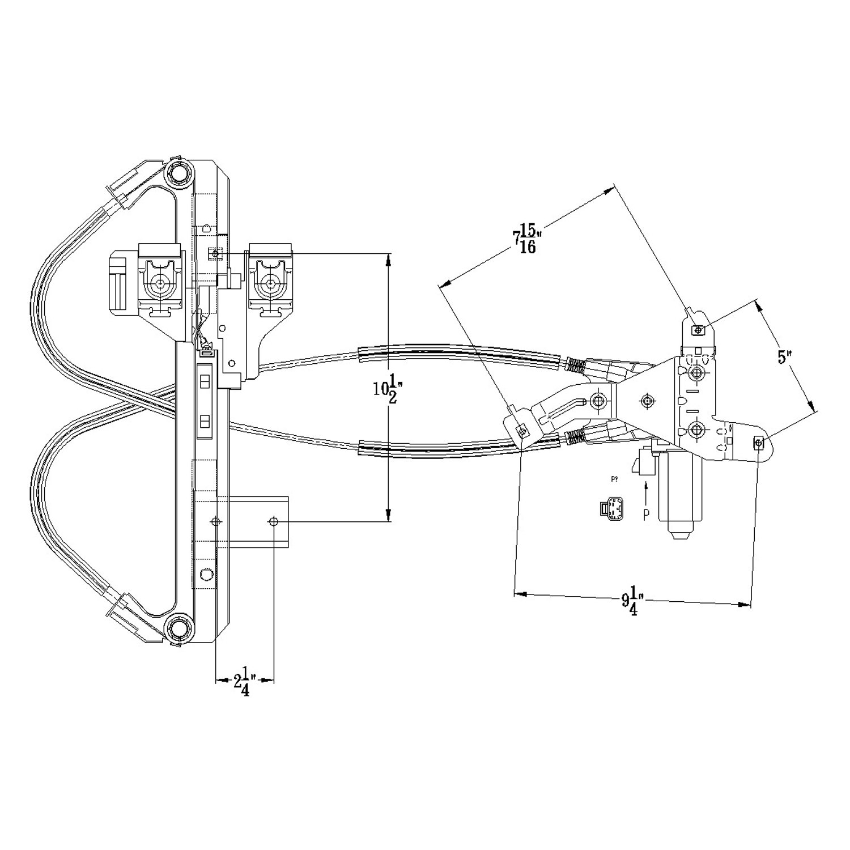 660543 3 tyc� 660543 rear passenger side power window motor and regulator window regulator diagram at soozxer.org