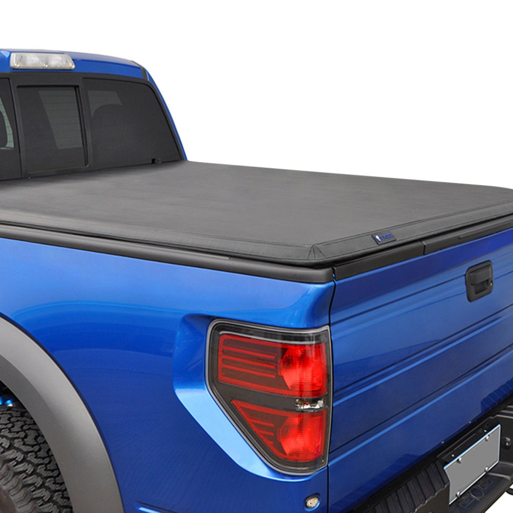 Tyger Toyota Tacoma With Deck Rail System Without Deck Rail System 2016 T3 Soft Tri Fold Tonneau Cover