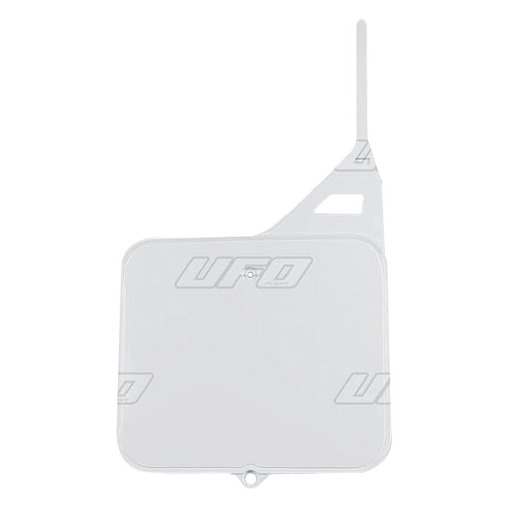 UFO Number Plate Front White #SU02910041 fits Suzuki RM125//RM250 1987-1995