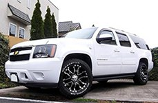 ULTRA® - BARON 201B Gloss Black with Diamond Cut Accents on Chevy Suburban