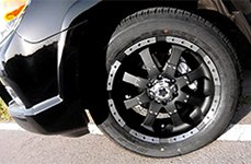 ULTRA® - GOLIATH 223B Matte Black with Diamond Cut Flange on Toyota Fortuner