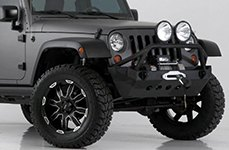 ULTRA® - 225U Black with Diamond Cut Accents on Jeep Wrangler