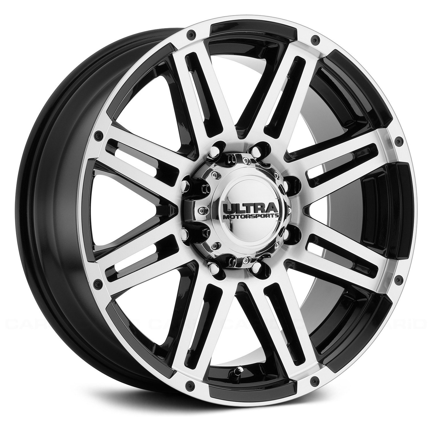 Ultra 174 226u Machine Wheels Gloss Black With Diamond Cut