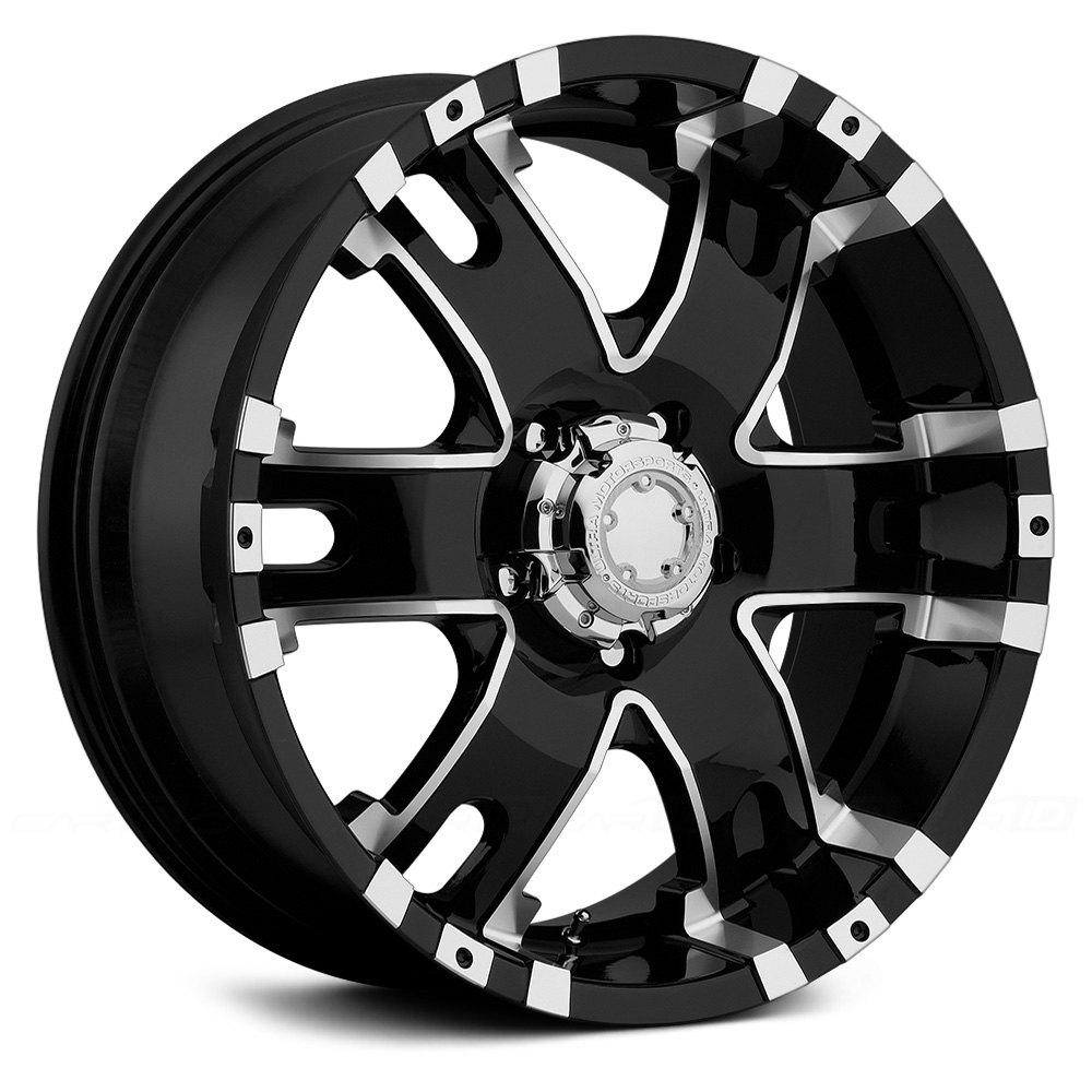 Ultra 174 201 Baron Wheels Gloss Black With Diamond Cut