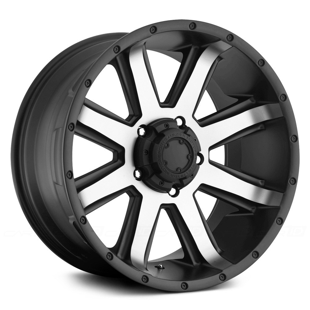 16x8 Ultra Wheels 15 6x114 3 71 8 Crusher 195u Black