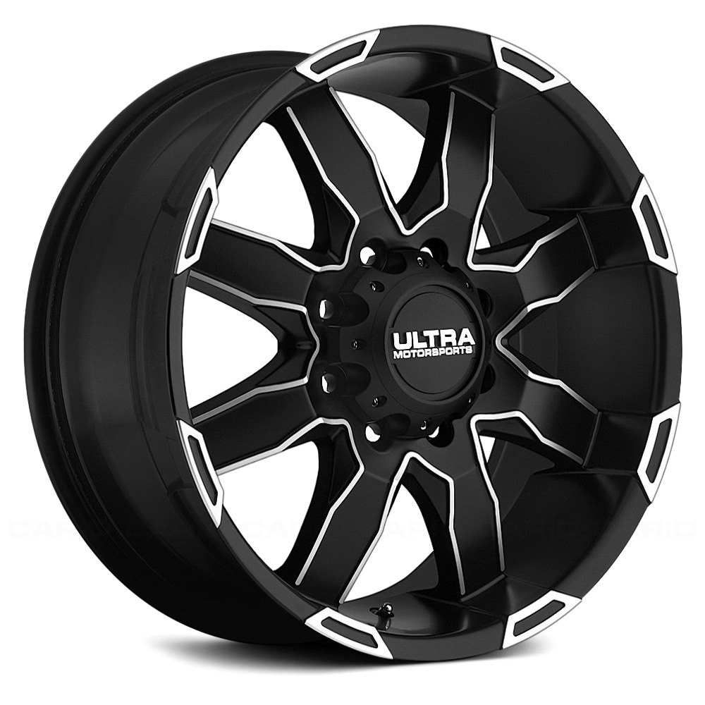 Ultra 174 225 Phantom Wheels Black With Diamond Cut Accents