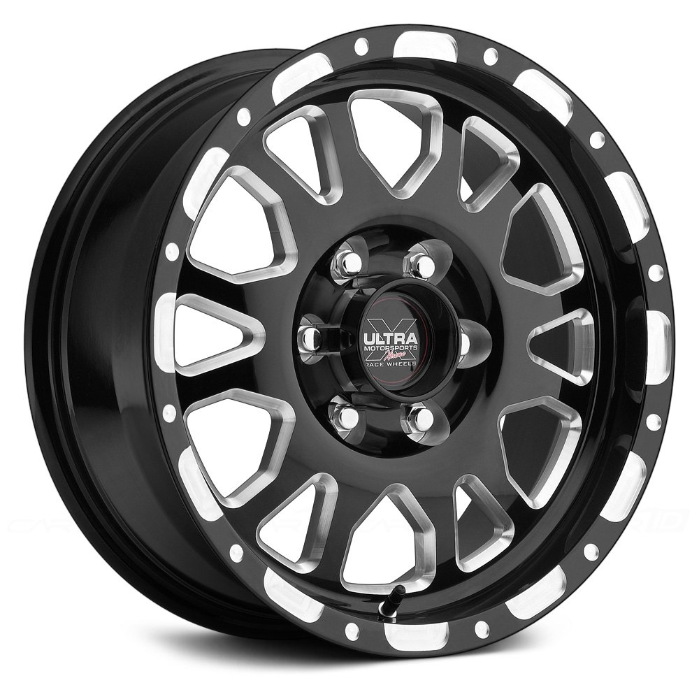 Ultra 174 100 Xtreme Wheels Gloss Black With Diamond Cut Accents Rims
