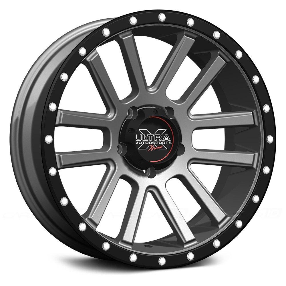 ultra 107 xtreme wheels satin graphite with x lok lip. Black Bedroom Furniture Sets. Home Design Ideas