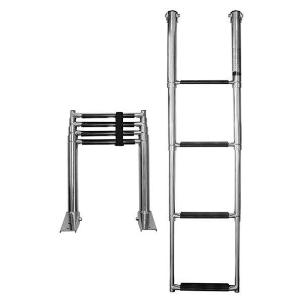 Seasense 174 8710 4 Step Telescopic Stainless Steel Ladder