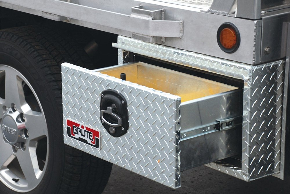 Truck Tool Box With Drawers >> Unique Truck Accessories® HD141824 - Brute™ HD Single Drawer Underbody Tool Box