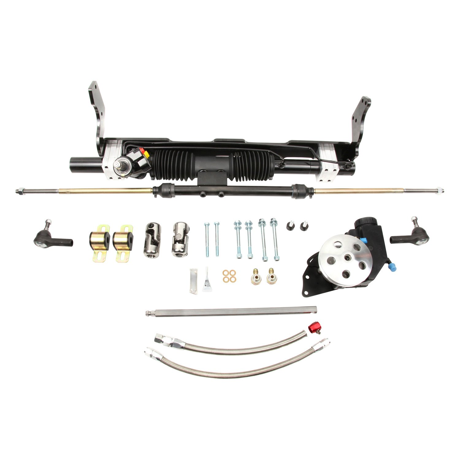 small steering chevy parts hydraulic ii power engine left rack with performance and block kit unisteer hand pinion