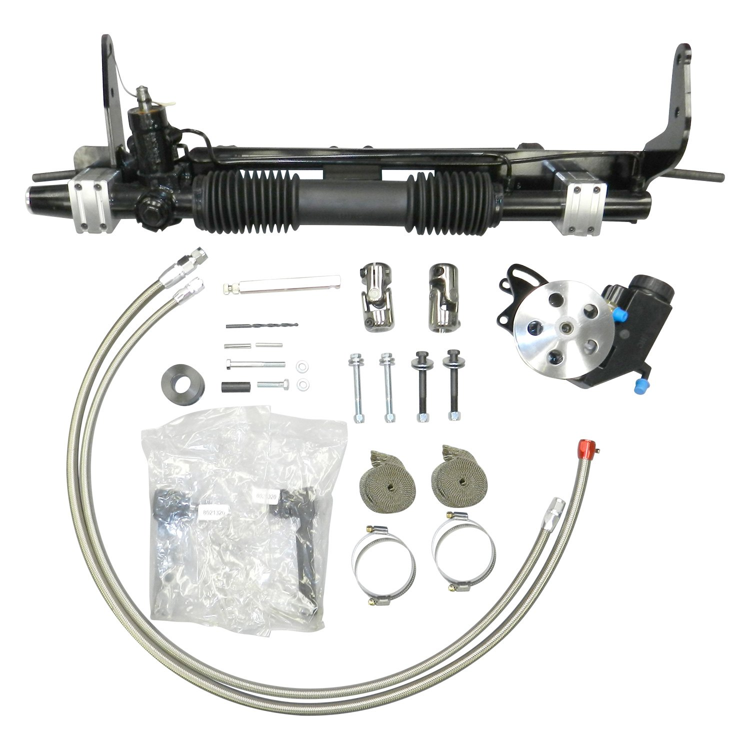 Unisteer Ford Torino Power Steering With Left Hand Drive 1968 Bolt Conversion Kit Pump Hydraulic Rack And Pinion