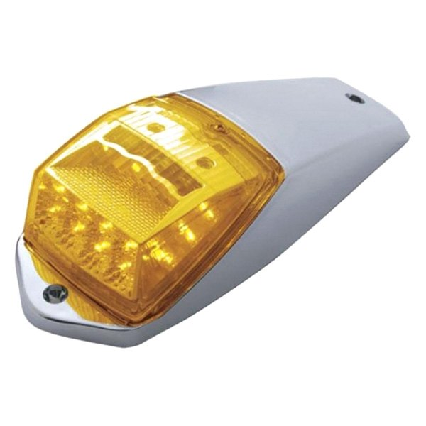 United Pacific 39527 17 Reflector Square Cab Light Led//Amber Lens