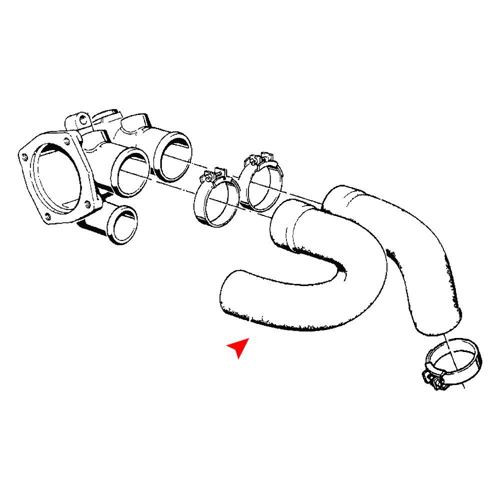 Radiator Coolant Hose Upper URO Parts 11531266459