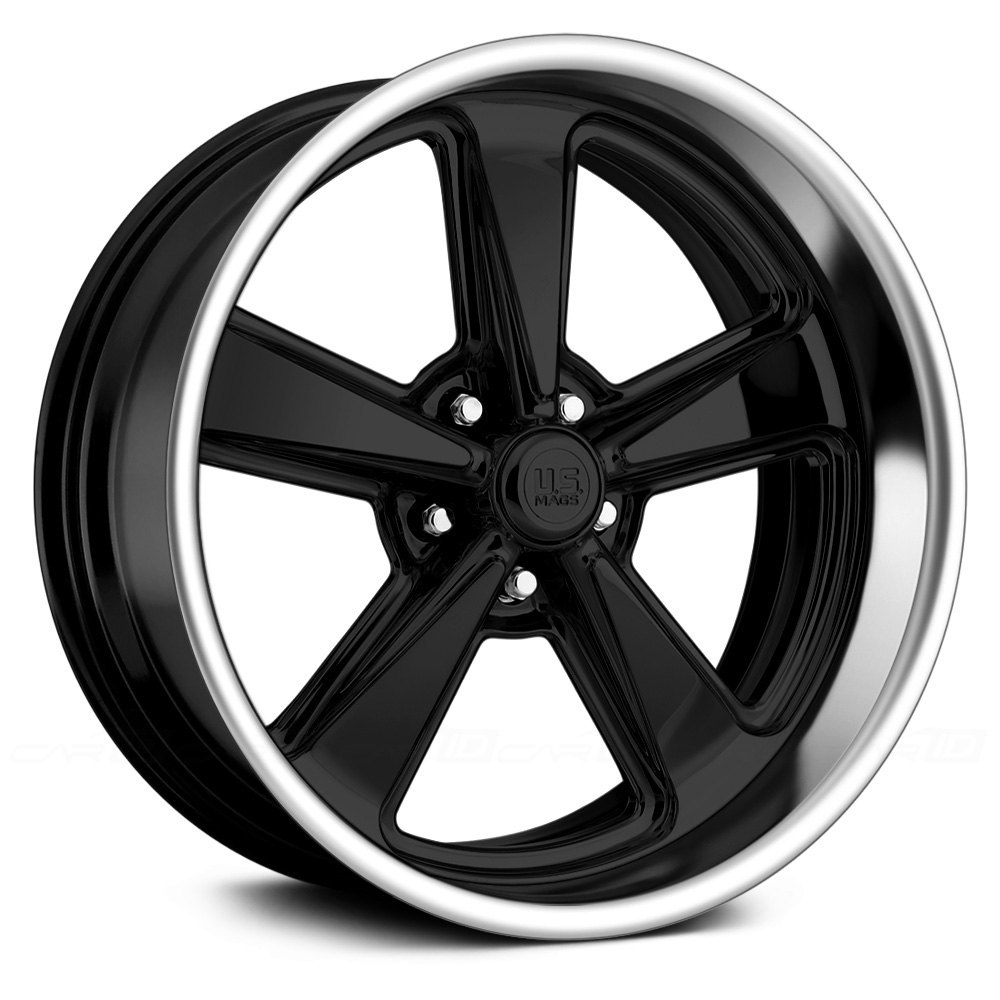 polishedu s mags bandit u418 2pc forged bolted gloss black with polished