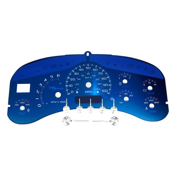 Details about For Chevy Silverado 1500 HD 01-02 US Speedo Aqua Edition  Gauge Face Kit, 100 MPH