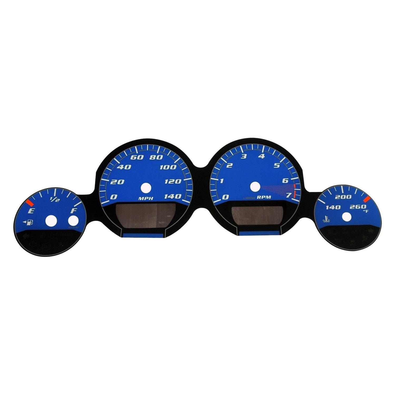 US Speedo® - Daytona Edition Gauge Face Kit with Blue Night Lettering  Color, Blue
