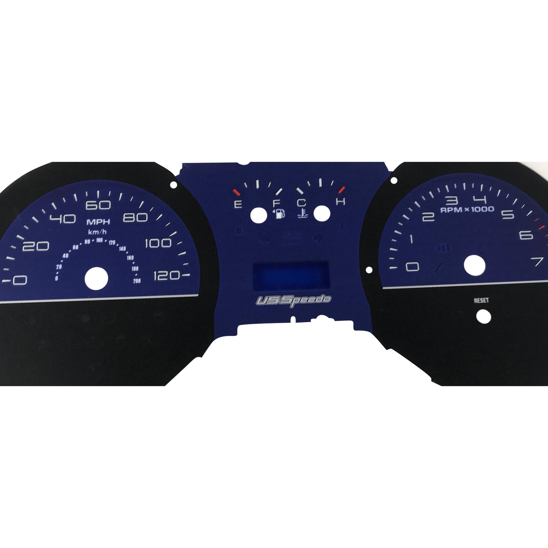 US Speedo® - Daytona Edition Gauge Face Kit with White Night Lettering  Color, White