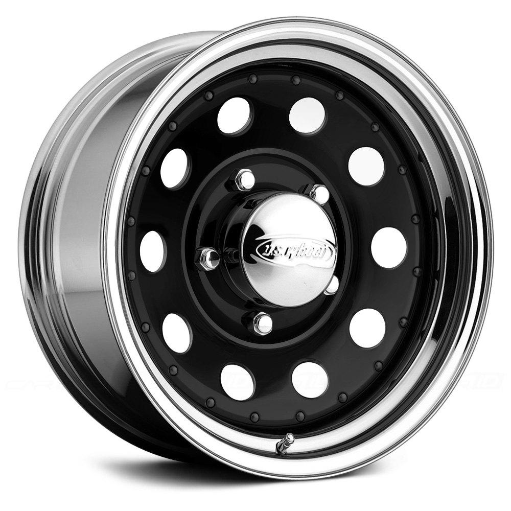 Us Wheels Modular Series 94 Wheels Gloss Black With Chrome Lip Rims