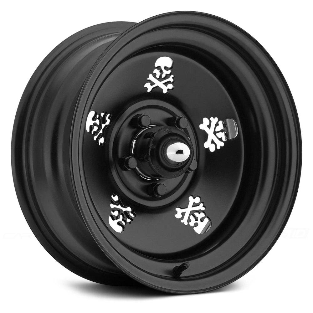 Us Wheels 174 Skull Series 052 Wheels Matte Black Rims