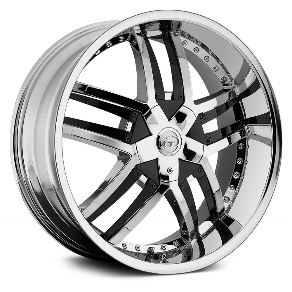 Vct 174 Lombardi Wheels Chrome With Black Inserts Rims