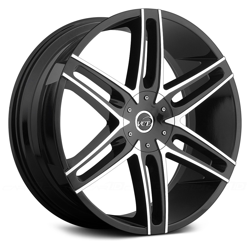 Vct 174 V8 Wheels Black With Machined Face Rims