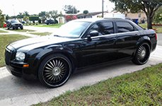 VENICE® - STELLA Black with Machined Face and Pinstripe on Chrysler 300