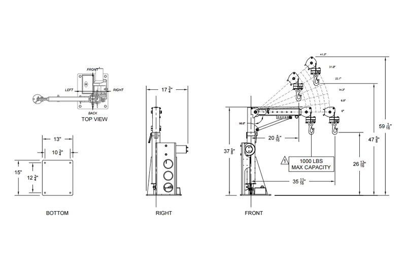 Venturo® VKERAA - ESV1000 Series™ Van Crane on